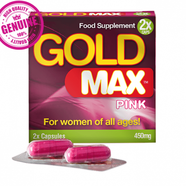 Gold Max Pink , Female Enhancement Pills, 2 Capsules